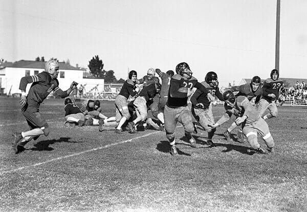 Football game at Pittsburg High School