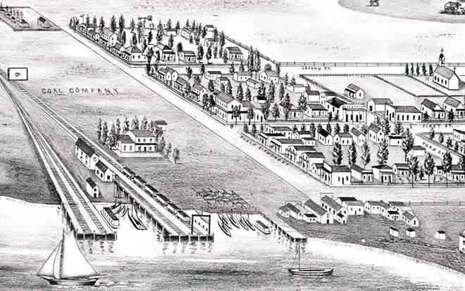 Black Diamond town illustration