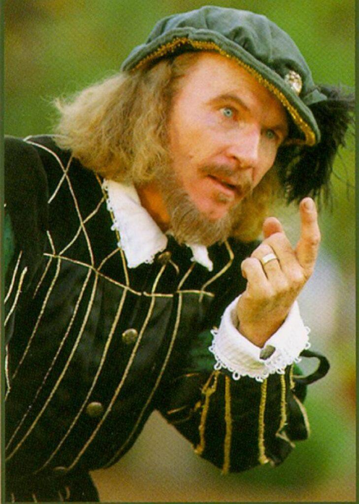 Chuck Wilcox as William Shakespeare Colorado Shakespeare Festival