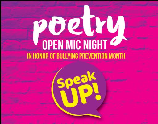 Speak UP at Arts Garage Poetry Open Mic Night October 2019