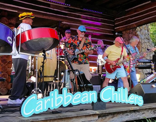 The Caribbean Chillers performing live at Arts Garage in September 2019