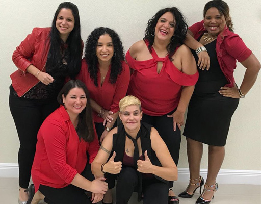 Miami Girls Tumbao performing at Arts Garage in March 2020