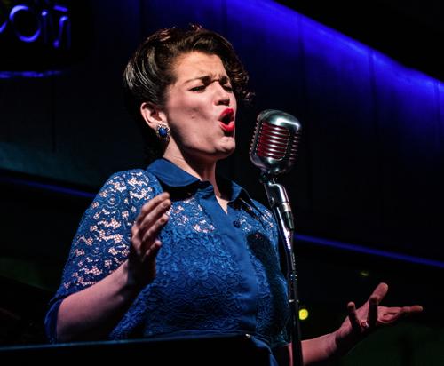 Joyann Parker performing live at Arts Garage in January 2021