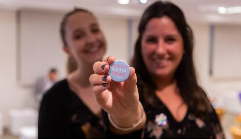 Evento do Mfriendly sobre visibilidade trans, realizado em 2019