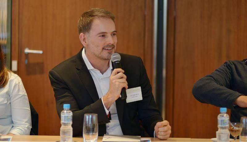 O sócio e sponsor do Mfriendly, Luiz Felipe Ferraz, durante o Out&Equal Strategy Session on LGBTI Workplace Inclusion in Brazil em 2019