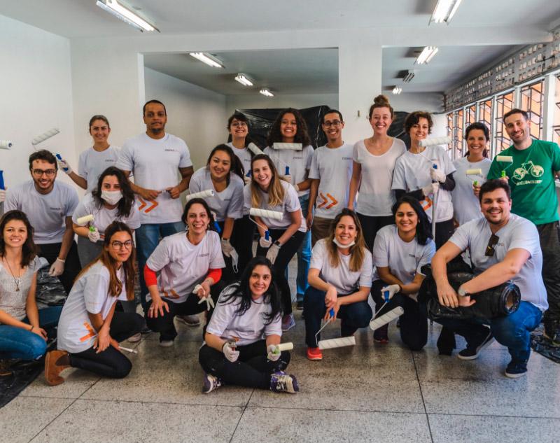 Ação do Mova na E. E. Lasar Segall, em São Paulo, no ano de 2019