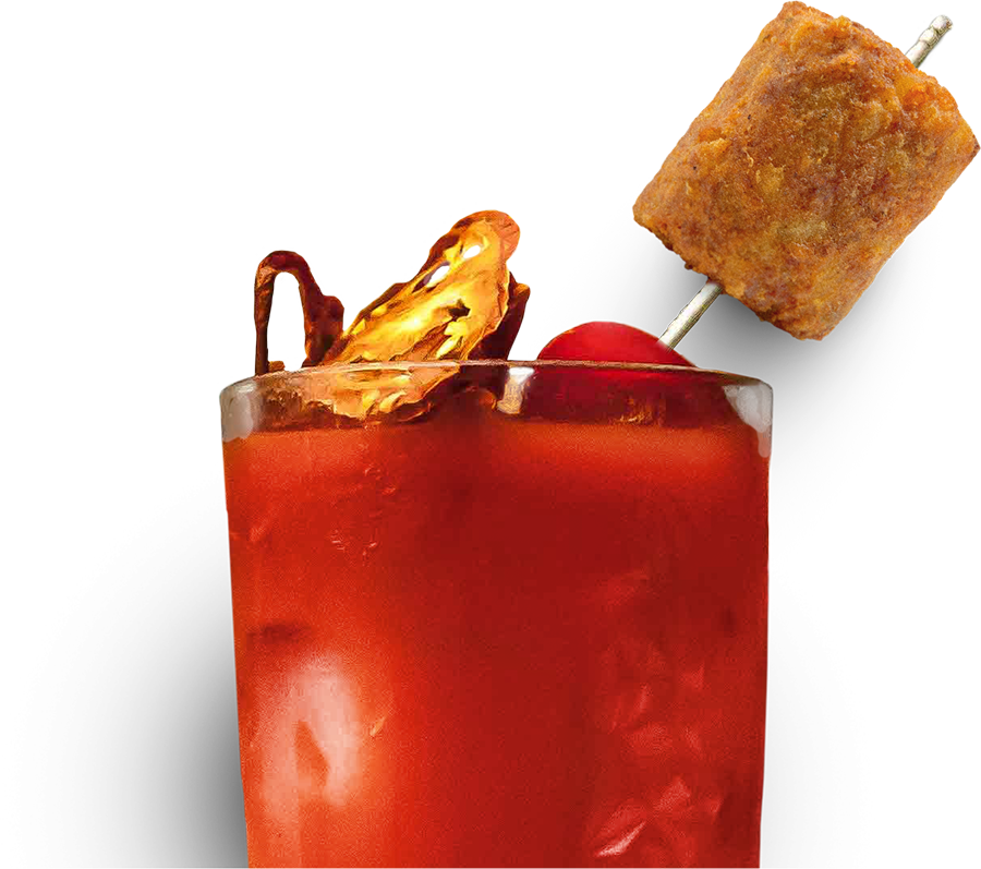 Garnish your Bloody Mary with a Tater Keg.