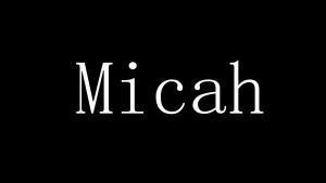 Micah 1