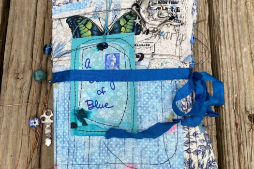 A Study of Blue — new junk / art journal (SOLD)
