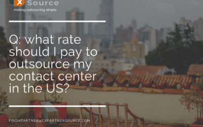 what rate should I pay to outsource my contact center in the US?