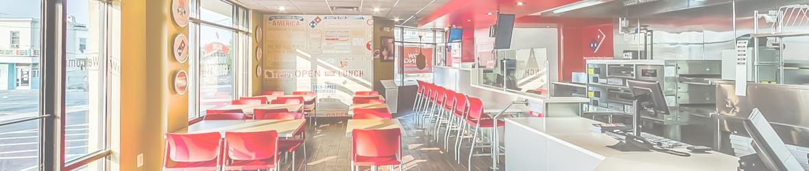 Dominos Pizza restaurants, by UrbanBuilt