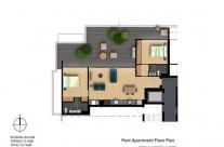 Pent level floor plan