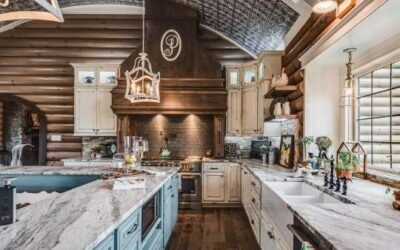 Chef Kitchen in Log Homes