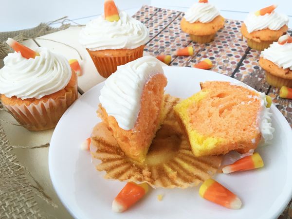 Candy Corn Cupcakes an easy and fun fall treat.