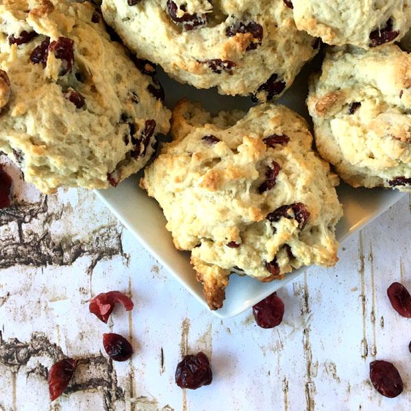 Cranberry Lemon Scones - Hagrids rock cakes