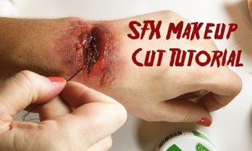 sfx makeup cut tutorial