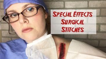 Surgical stitches sfx makeup