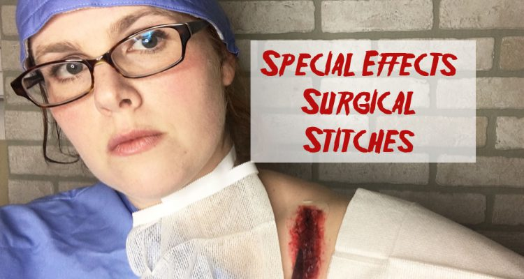 Surgical stitches sfx makeup