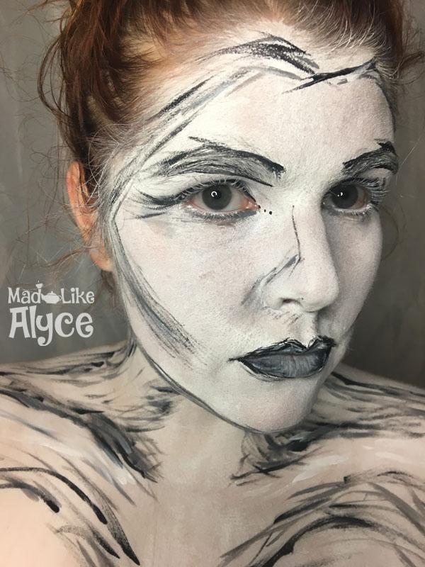 sketched face makeup