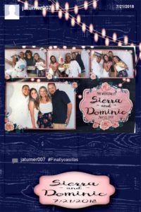 oregon wedding dj, hashtag photo booth rental
