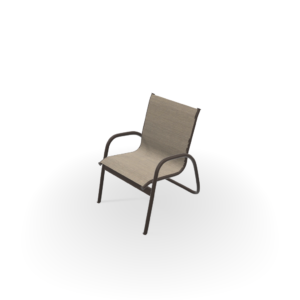 Telescope Gardenella Sling Stacking Arm Chair