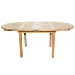 Three Birds Chelsea round to oval extension table