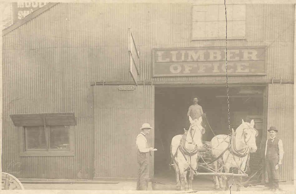 Vintage Compton Lumber sign