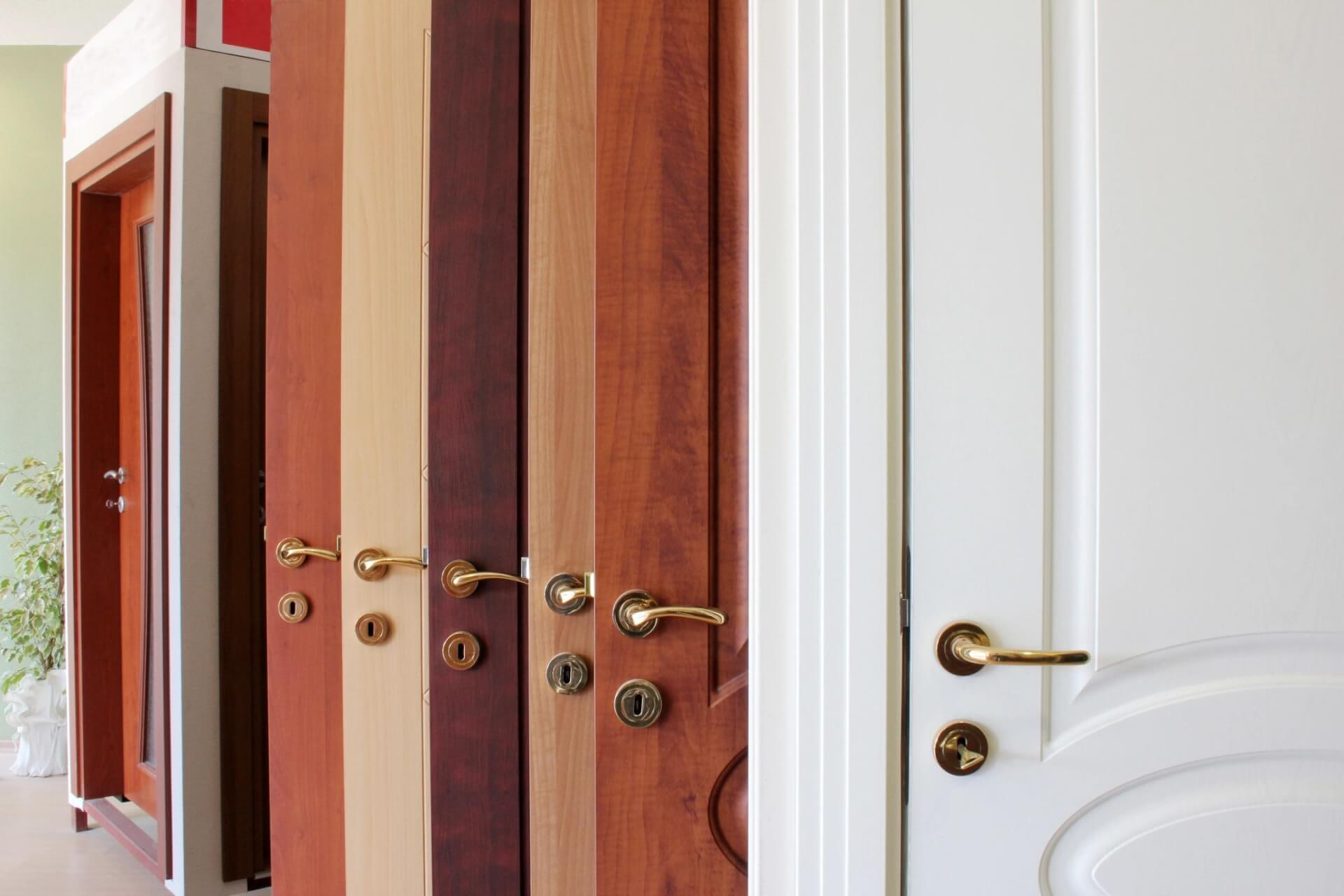 Array of styles of doors