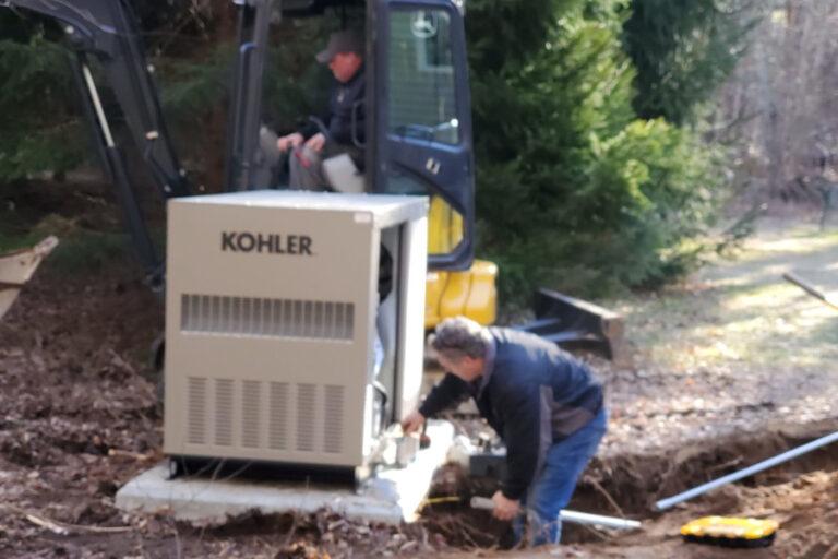Custom Care Inc. generator installation