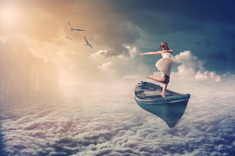 Dreaming about flying in a boat