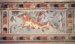 Bull-leaping fresco at Knossos