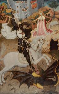 St. George and the Dragon, Bernat Martorell, 1434/25