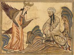 Muhammad and the Angel Gabriel, Rashid-al-Din Hamadani, 1307