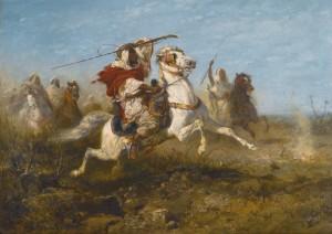 Arab Warrior Adolf Schreyer (1828-1899)