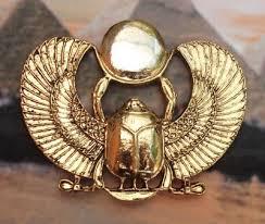 Golden Scarab Pin