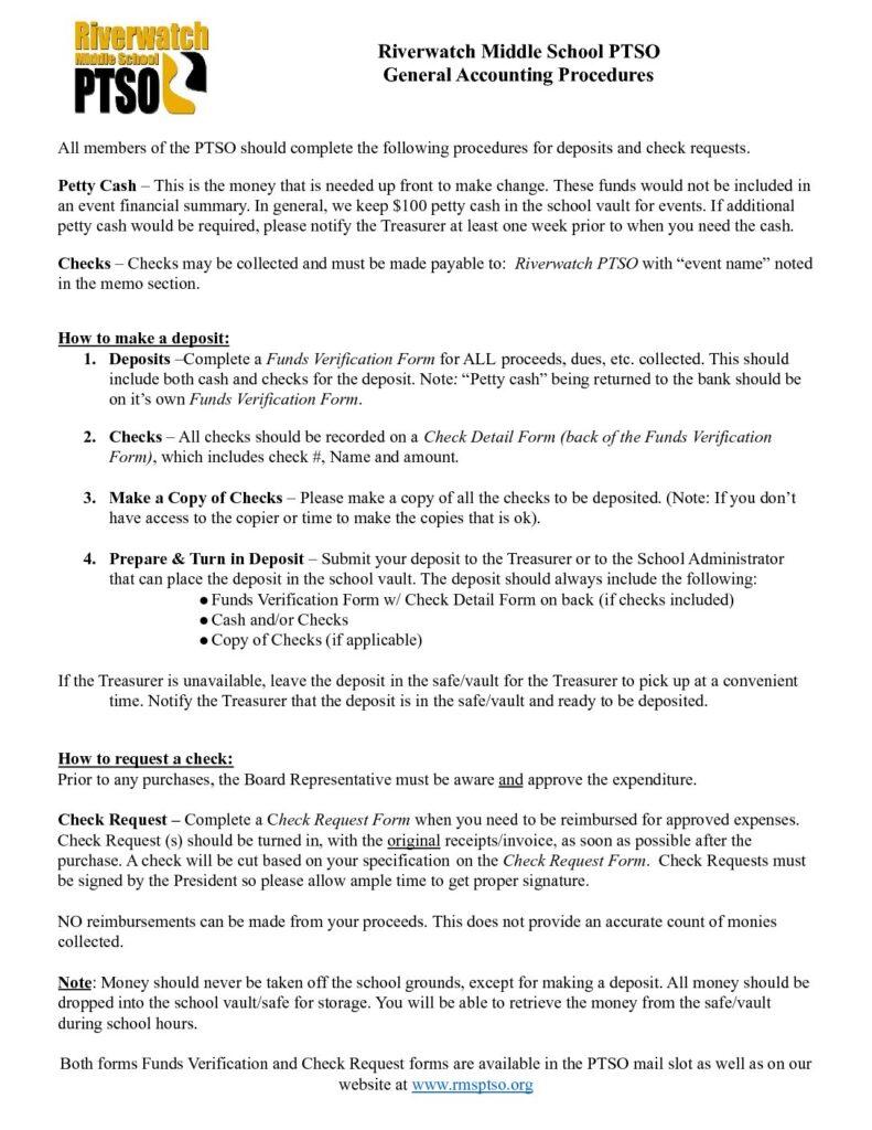 Riverwatch PTSO Event Planning Checklist