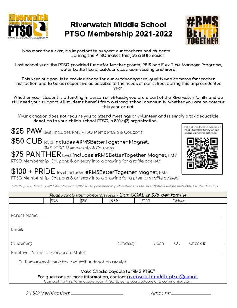 RMS Membership Form 2020-21