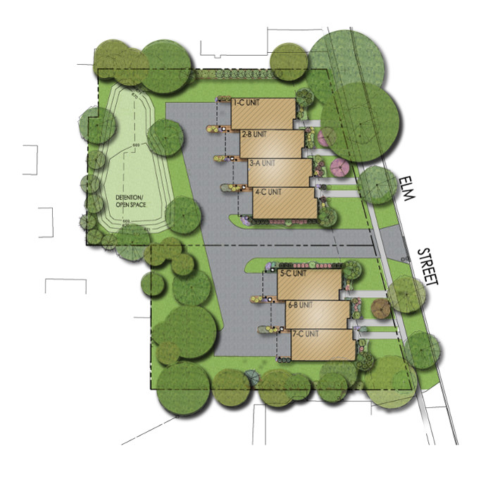 Elm Street Village Luxury Townhomes in Deerfield Village - Site Plan and Availability