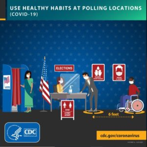 Tips for Voters to Reduce Spread of COVID-19