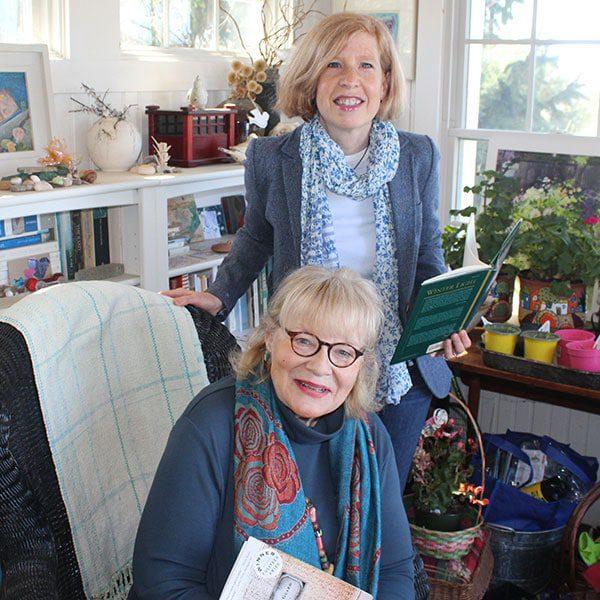 Vicki Hendrickson and Jennifer Entwistle, co-chairs of the Newburyport Literary Festival
