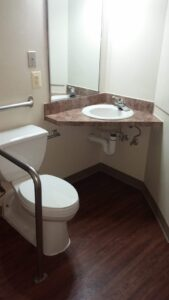 Toilet with Handrail