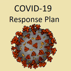 drawing of a virus