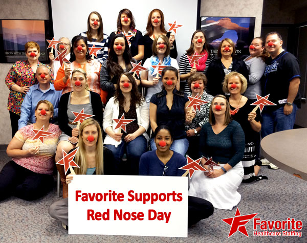 Favorite Healthcare Staffing Puts Our Best Red Nose Forward to End Childhood Poverty. Join the Challenge!