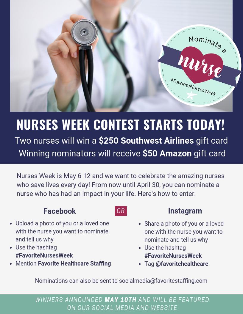 Social Media Flyer- Nominate a Nurse Contest