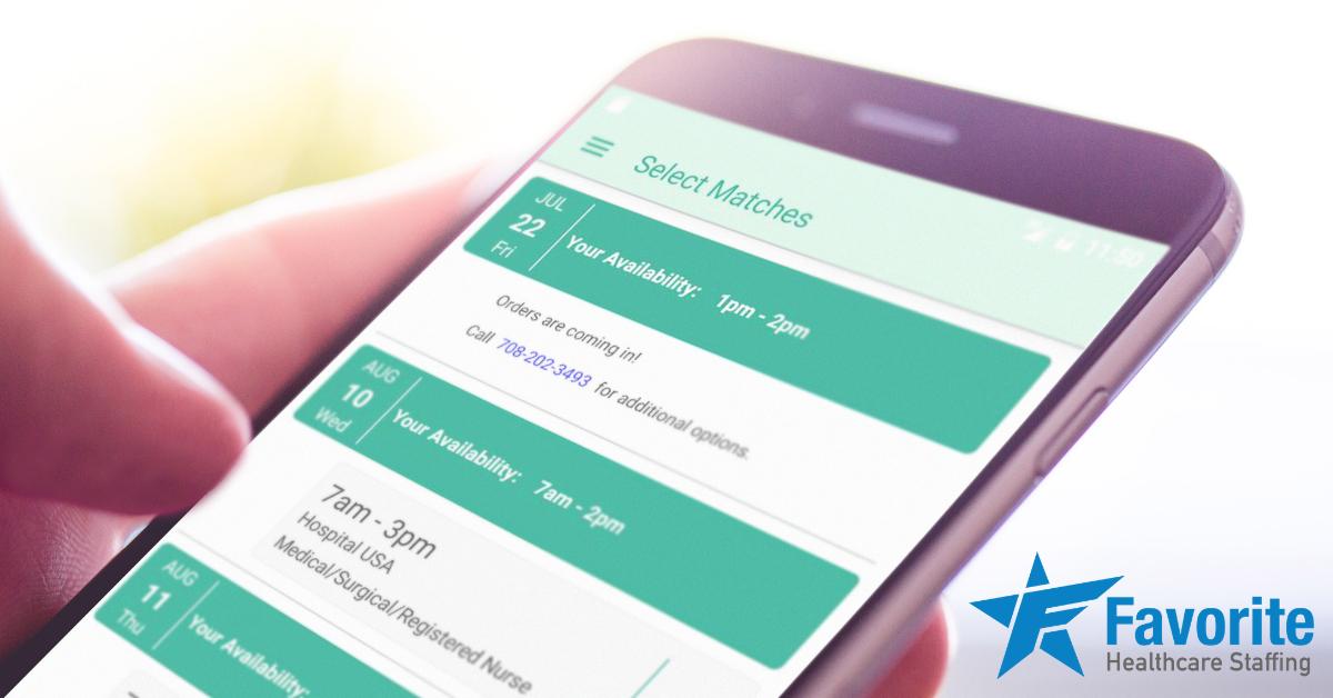 Favorite Healthcare Staffing Mobile App Update