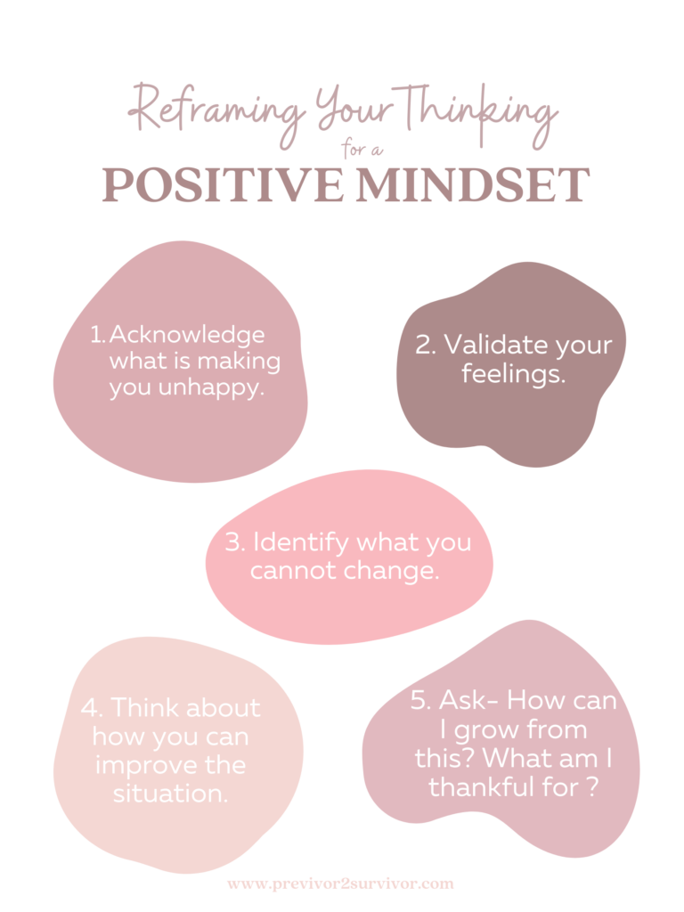 How to reframing your thinking for positive mindset