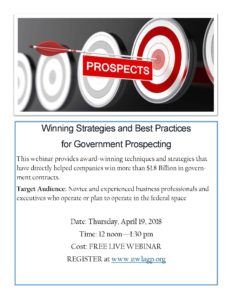 Winning Strategies and Best Practices for Government Prospecting @ Live Webinar