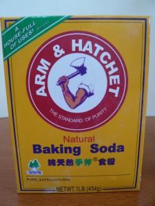 Baking soda for odor neutralizer.