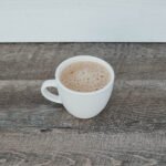 Caffe latte - grounds around town