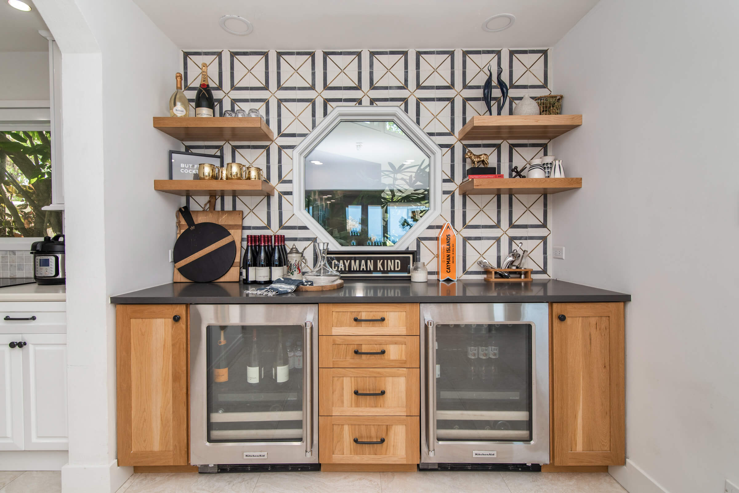 Seascape Villa Cayman Islands Grand Cayman Family Beachfront Luxury Caribbean Vacation Rental Fully Equipped Kitchen and Bar